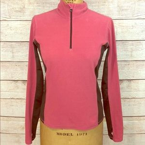 Lole Pink Grey Running 1/2 Zip Jacket Top Small S